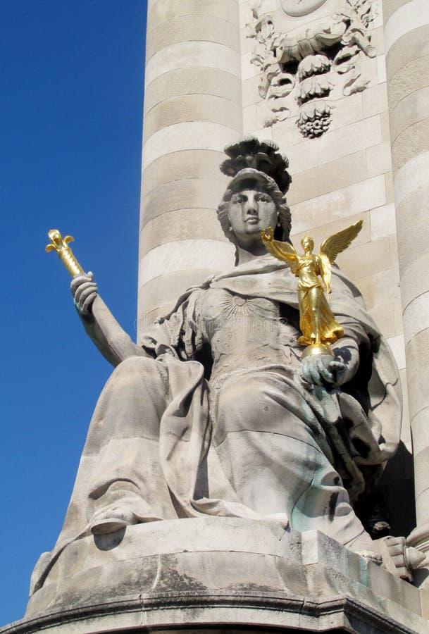 妇女,法国,巴黎的纪念碑 库存图片