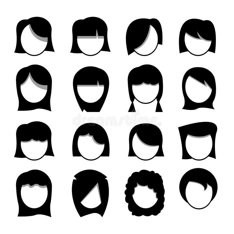 妇女头发 库存照片