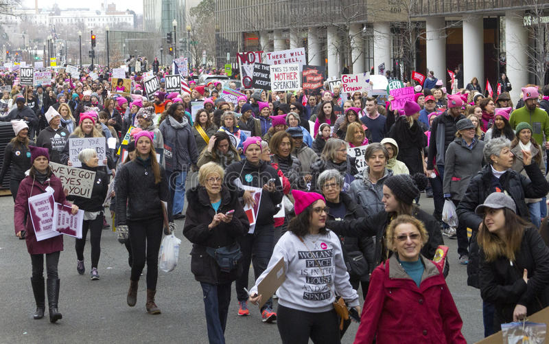 妇女`在华盛顿的s 3月 库存图片