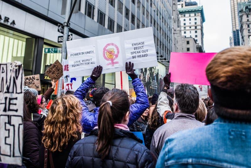 妇女3月2017 NYC 库存照片