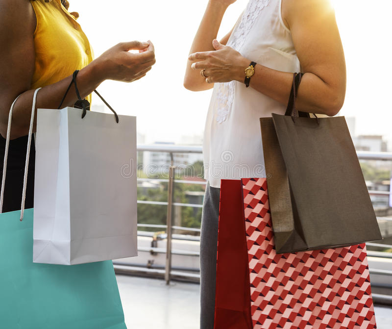 妇女阴物购物放松概念 图库摄影