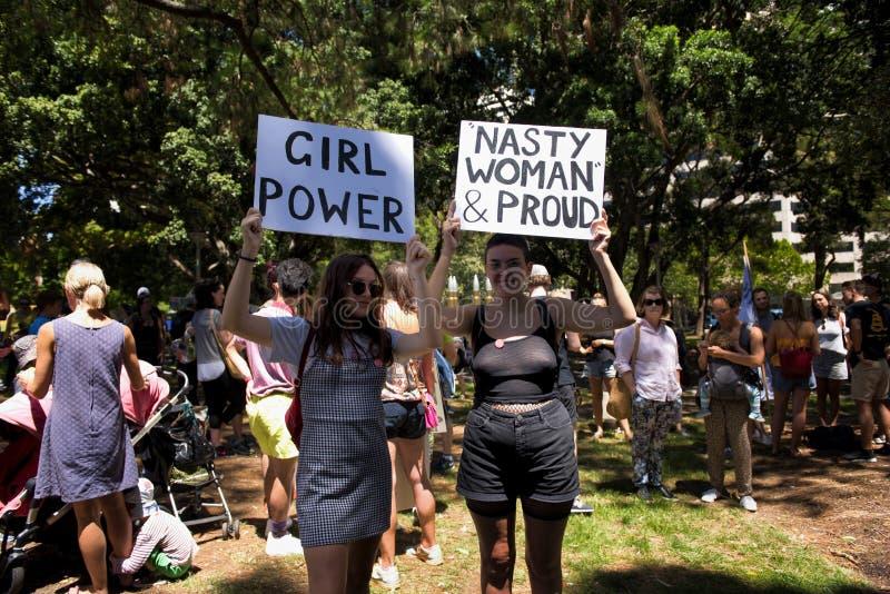 妇女` s 3月,悉尼-澳大利亚 库存图片