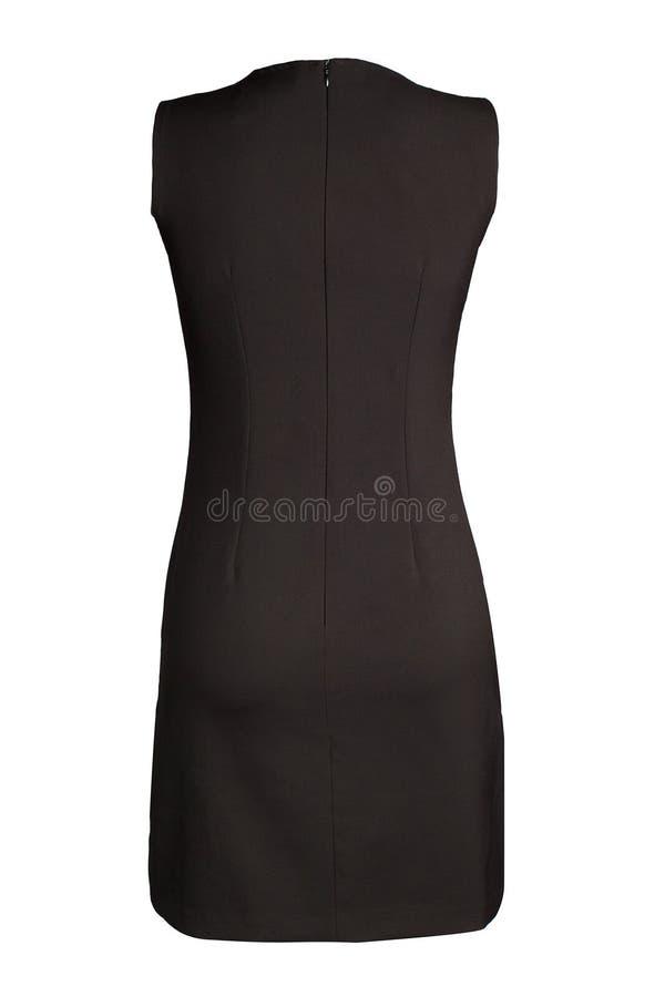 妇女` s黑色礼服 免版税库存图片