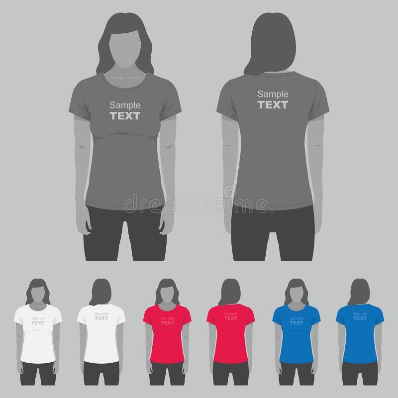 Download 妇女T恤杉设计模板 向量例证. 插画 包括有 袖子, 存储, 例证, 衣物, 抽象, 收集, 技术, 方式 - 72350500