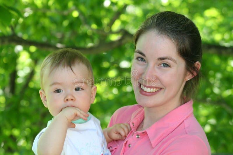 妈妈和婴孩2 库存照片