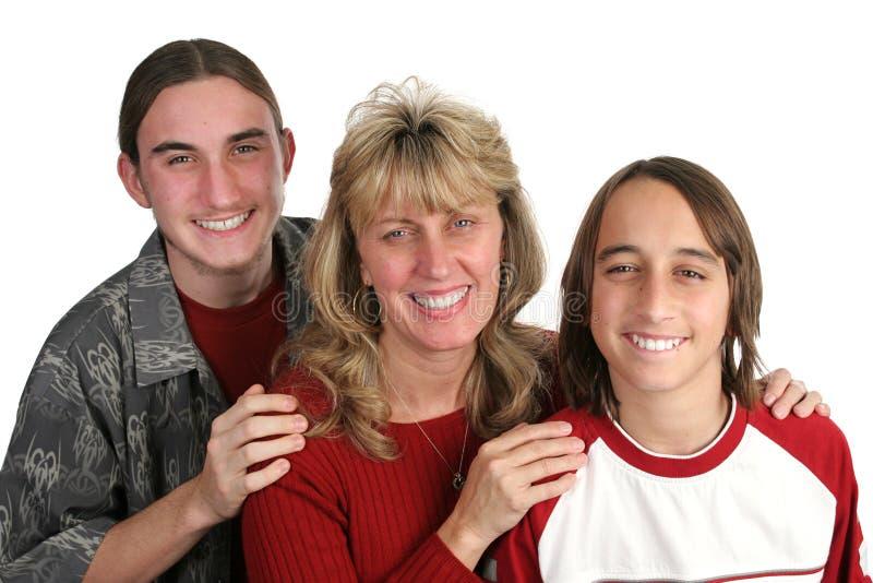 妈妈唯一儿子 免版税库存图片