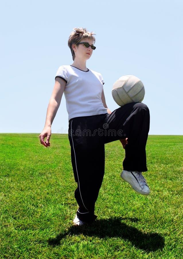 妈妈足球 图库摄影