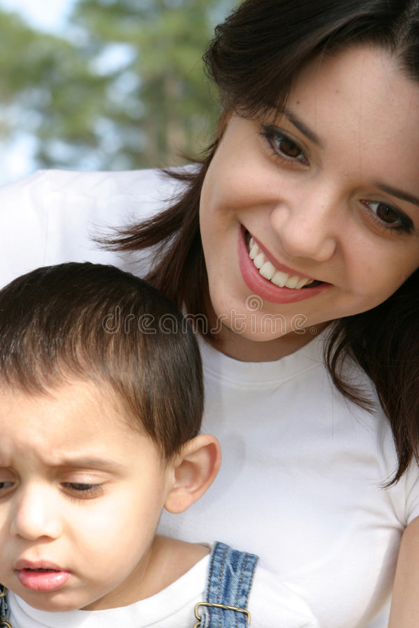 妈妈son2 图库摄影