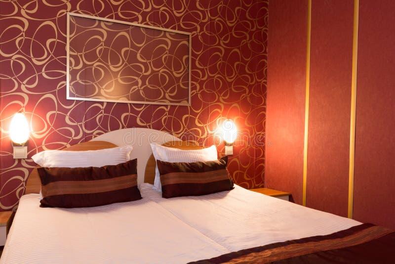 妓院的旅馆客房装备了现代雇用妓女的地方人 免版税库存照片