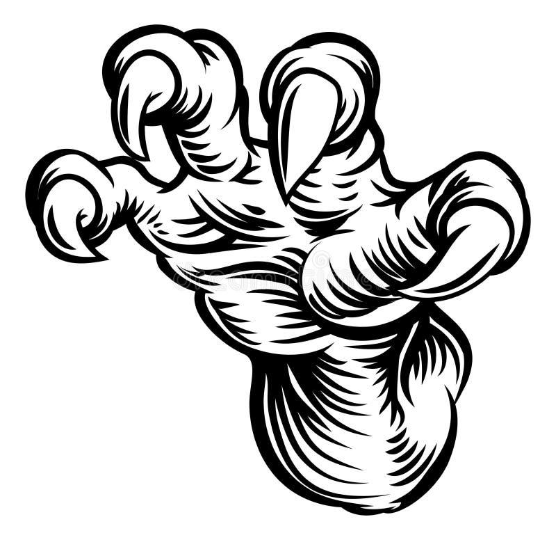 妖怪爪爪手 向量例证