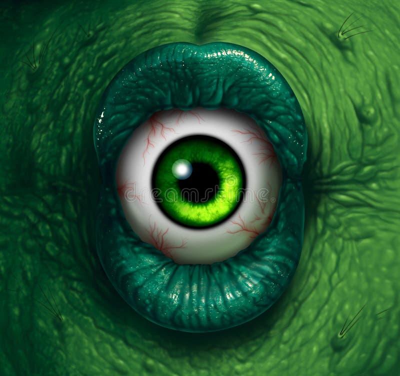 妖怪眼睛 向量例证