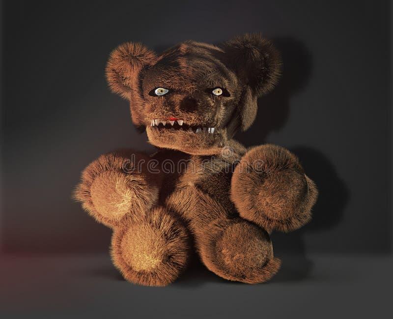 妖怪邪魔恐怖邪恶的玩具熊3d翻译 皇族释放例证