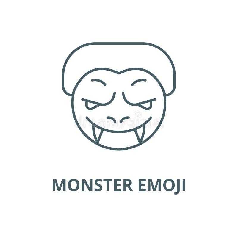 妖怪emoji传染媒介线象,线性概念,概述标志,标志 皇族释放例证