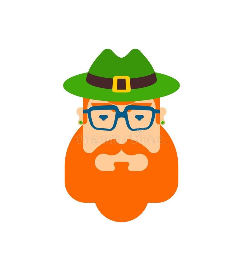 妖精行家面孔 帽子和胡子 日帕特里克s st 爱尔兰传统假日 民间文化节日在爱尔兰 皇族释放例证