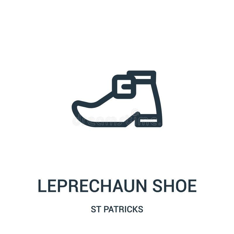 妖精鞋子从st patricks汇集的象传染媒介 稀薄的线妖精鞋子概述象传染媒介例证 线性标志 皇族释放例证