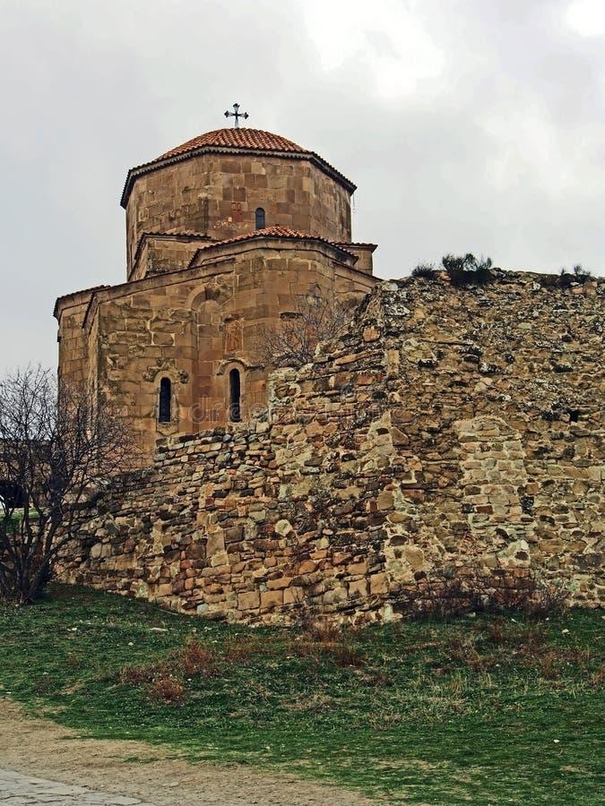 姆茨赫塔Jvari修道院教会在乔治亚 库存照片