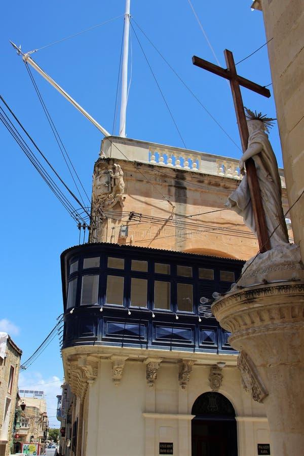 姆迪纳,马耳他,2014年7月  免版税库存照片