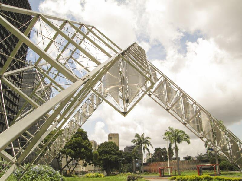 委内瑞拉加拉加斯雕塑Abra太阳亚历杭德罗奥特罗广场委内瑞拉 库存图片