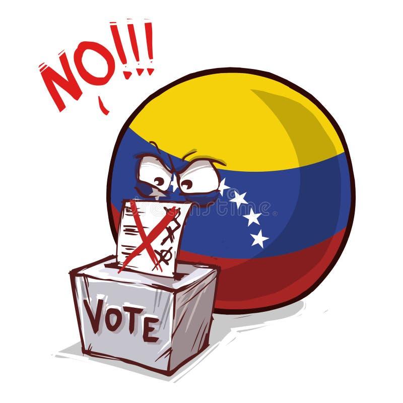 委内瑞拉投反对票国家的球 皇族释放例证