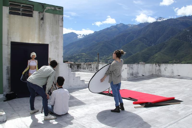 委内瑞拉模型 免版税库存图片