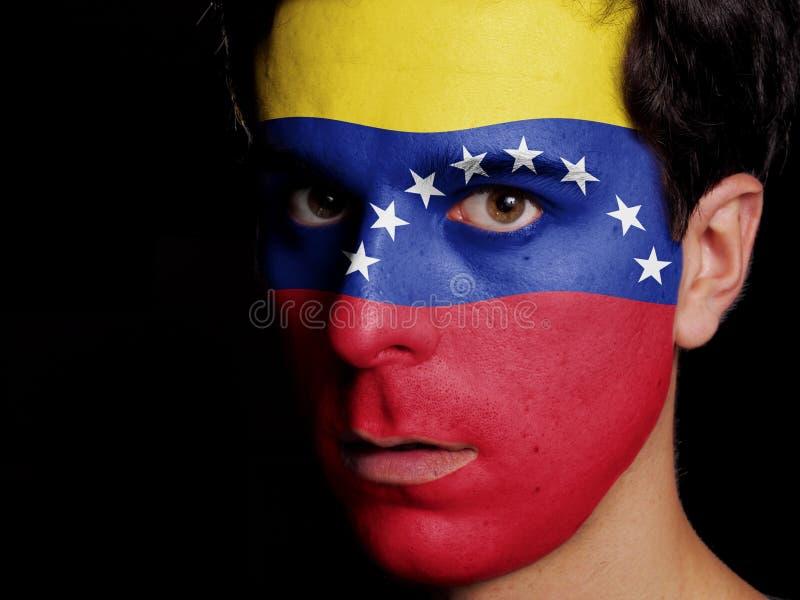 委内瑞拉的旗子 免版税库存照片