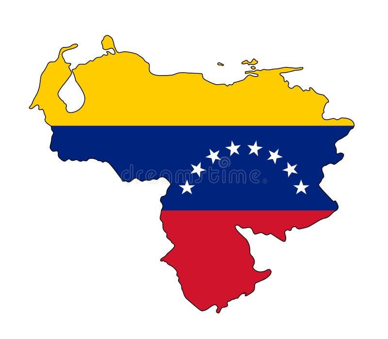委内瑞拉 委内瑞拉传染媒介illustartion地图 库存例证图片