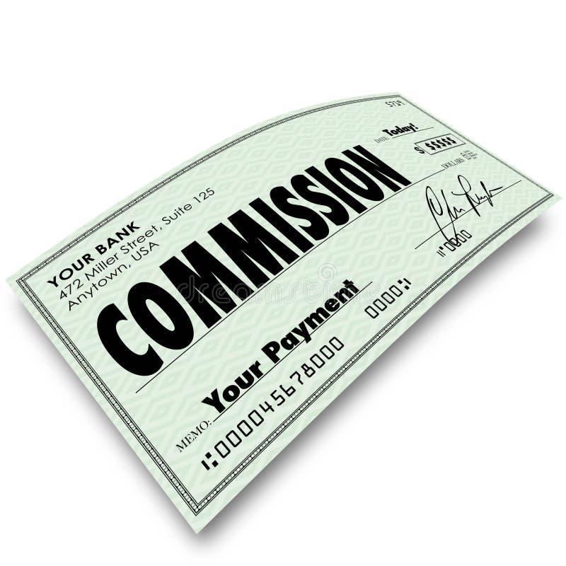 委员会检查销售报偿薪水收入金钱 皇族释放例证