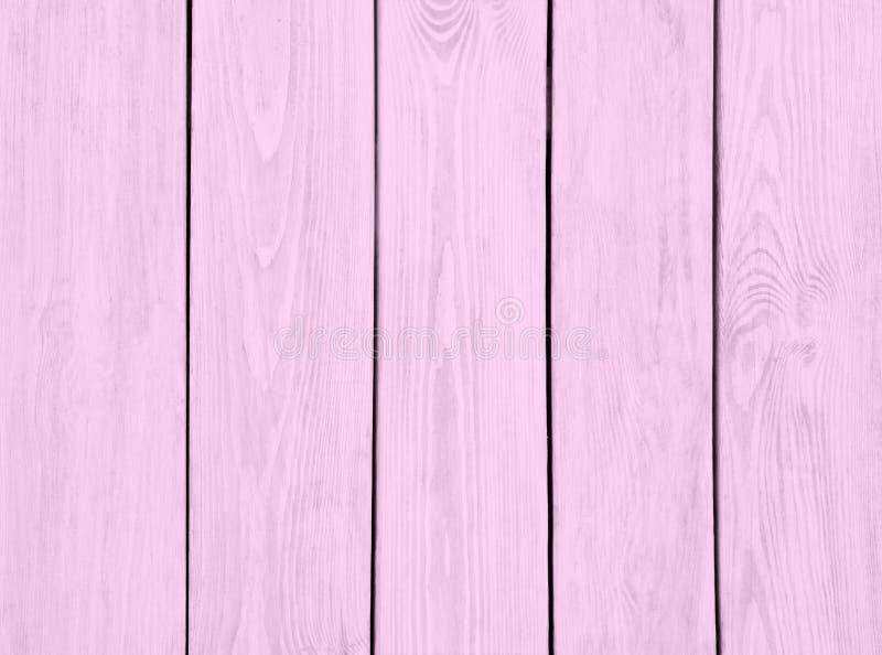 委员会背景浅粉红色的木板条纹理  免版税库存照片