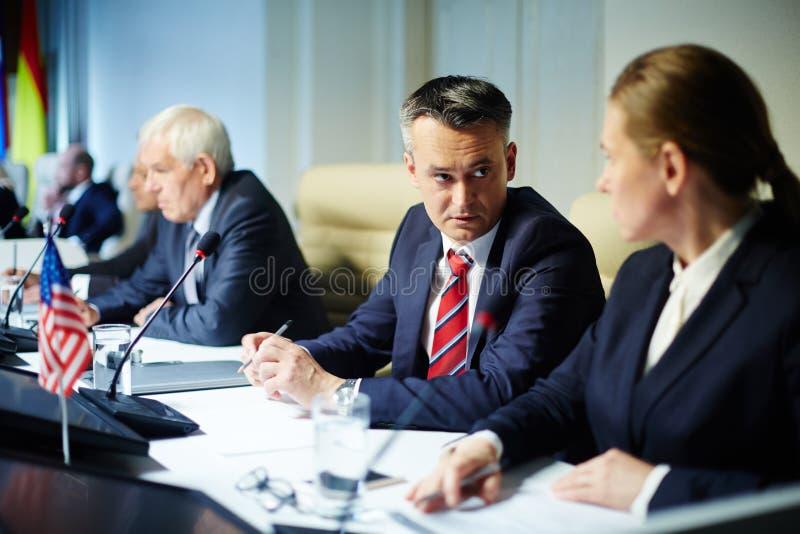 委员会议 免版税库存图片