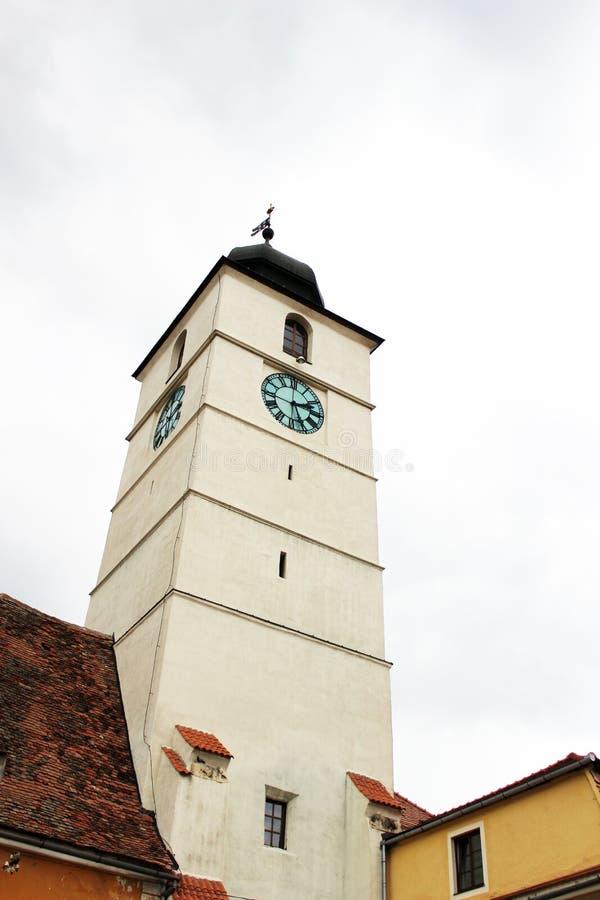 委员会锡比乌,罗马尼亚的塔 免版税库存图片