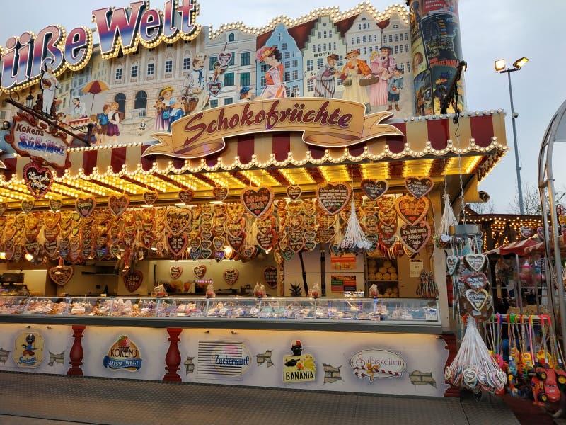 姜饼商店在亚琛 免版税库存照片