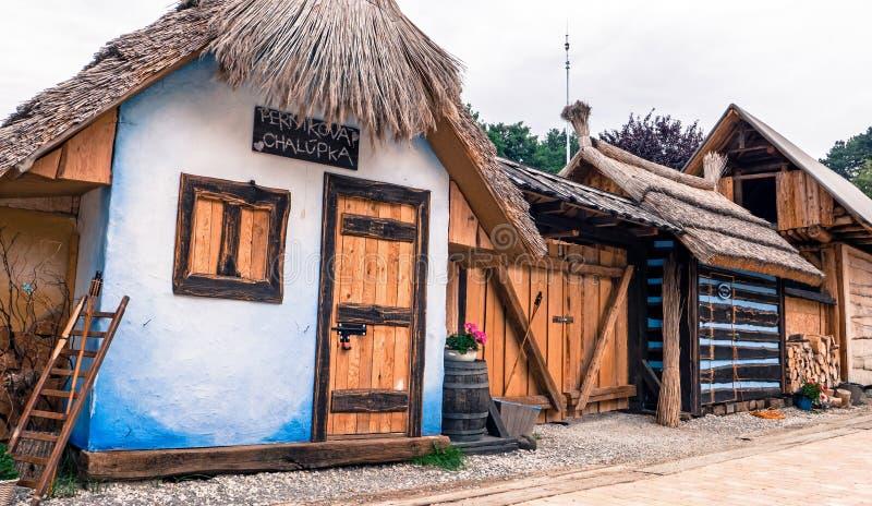 姜饼家的Bojnice,斯洛伐克 免版税库存照片