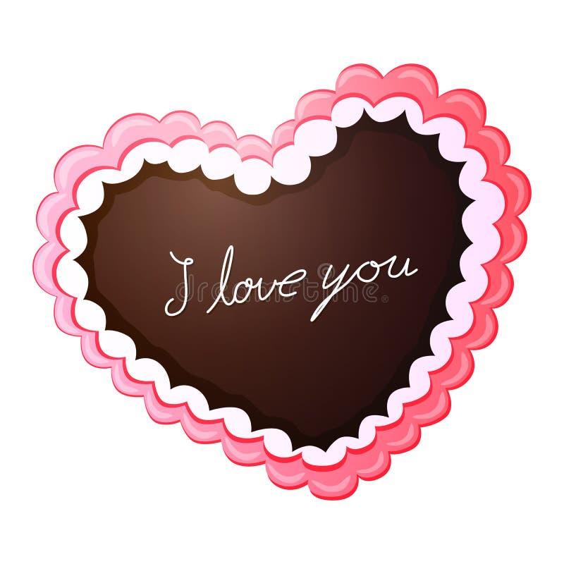 姜饼爱心脏 向量例证