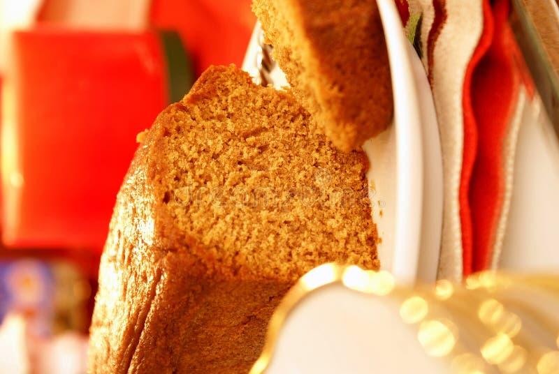 姜饼甜点 免版税库存图片