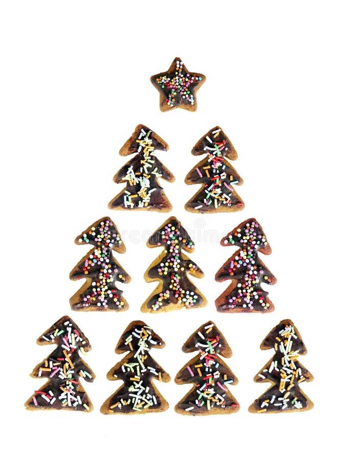 姜饼结构树xmas 免版税库存图片