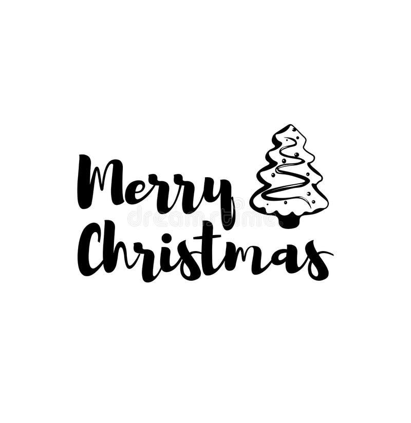 姜饼X-Mas树 圣诞节愉快的快活的新年度 2007个看板卡招呼的新年好 向量例证
