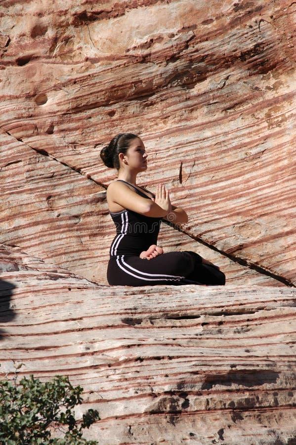 姿势瑜伽 免版税图库摄影