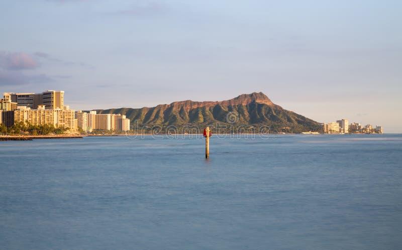 威基基檀香山夏威夷全景  库存图片