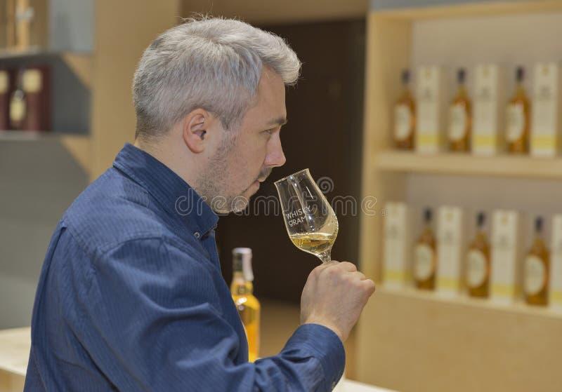 威士忌酒微量节日在基辅,乌克兰 免版税库存图片
