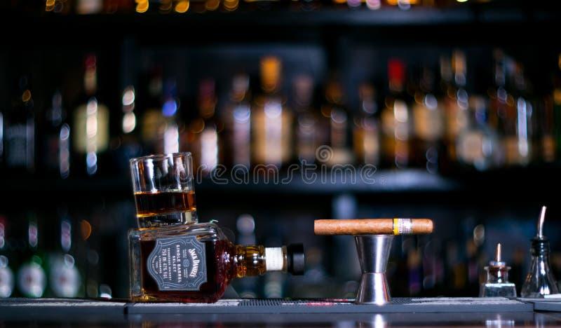 威士忌酒杰克Daniels 免版税库存图片