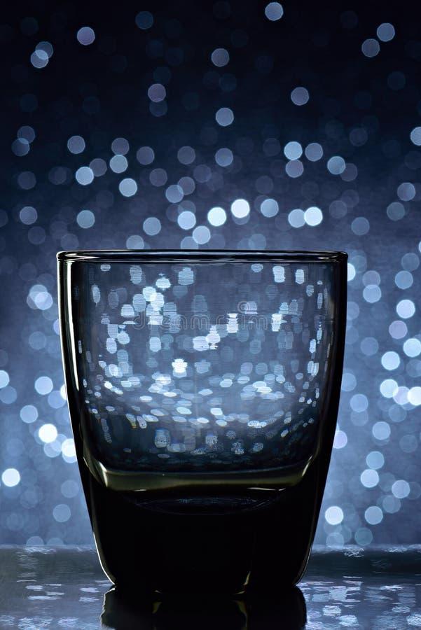 威士忌酒的空的玻璃 图库摄影