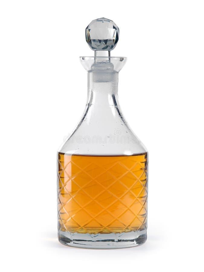 威士忌酒蒸馏瓶 免版税库存照片