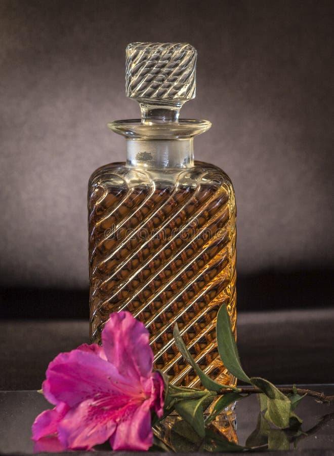 威士忌酒蒸馏瓶 库存照片