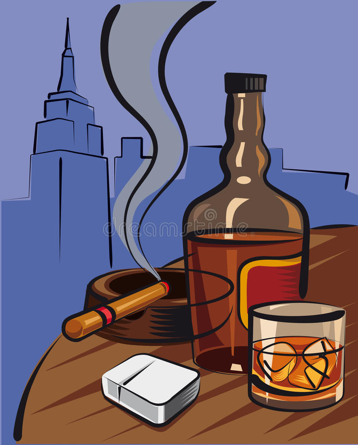 威士忌酒 库存例证