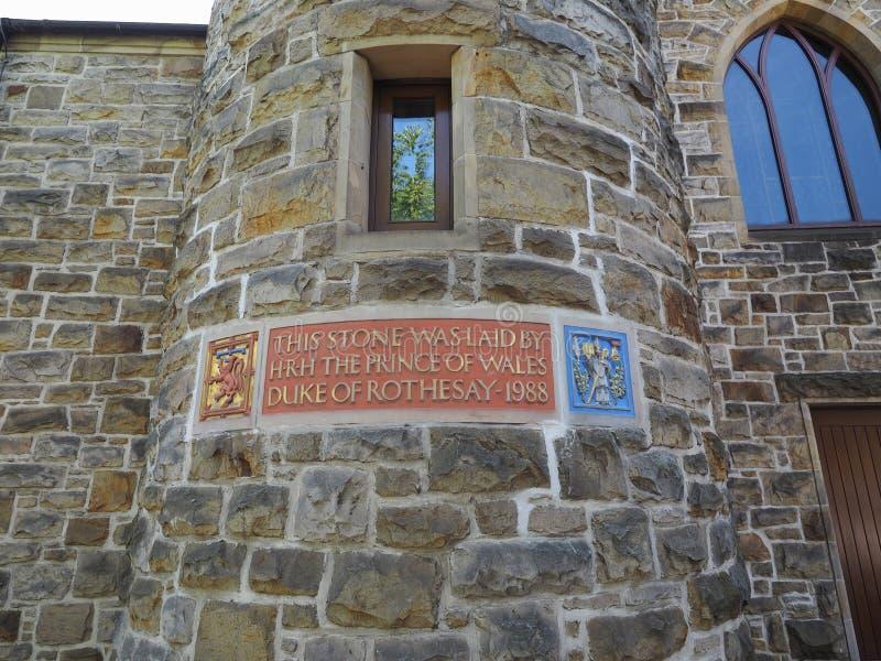 威尔士亲王放置的石头在格拉斯哥 库存图片