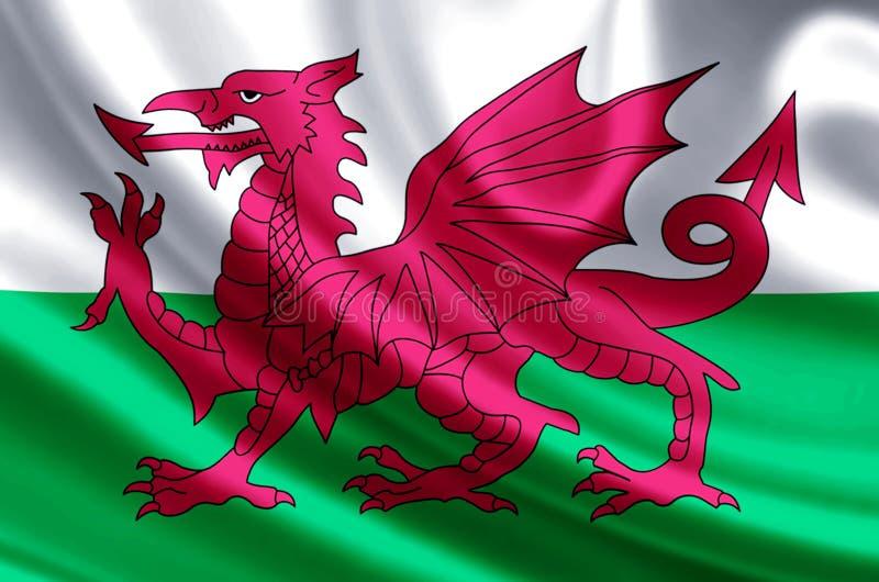 威尔士旗子例证 皇族释放例证