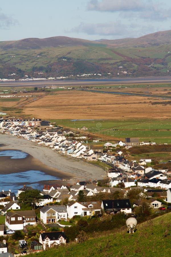 威尔士西部海滨小镇博尔特的美景 免版税库存图片