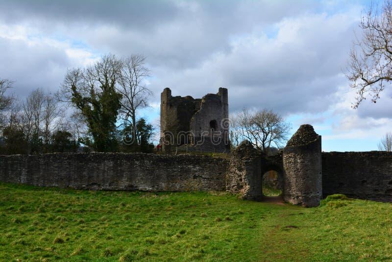 威尔士破坏了中世纪城堡和堡垒,威尔士,英国 库存图片