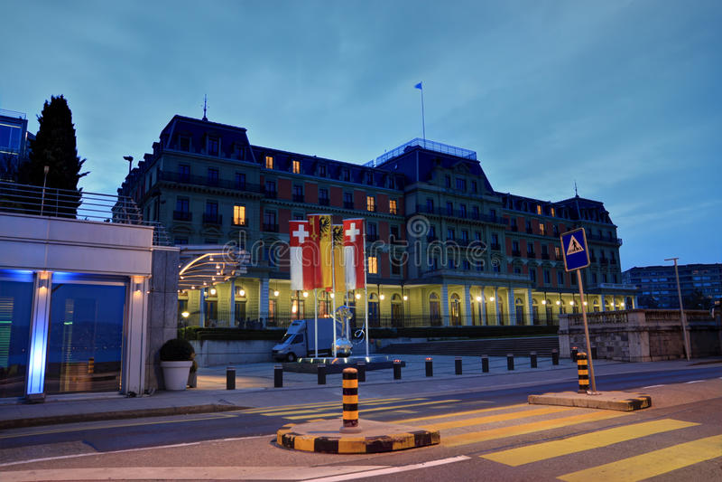 威尔逊宫殿,日内瓦,瑞士 库存图片
