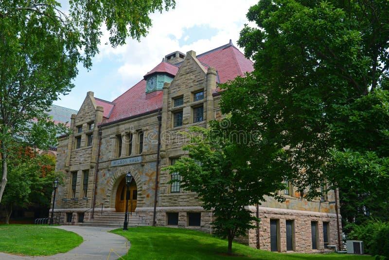 威尔逊霍尔,布朗大学,上帝,美国 免版税图库摄影